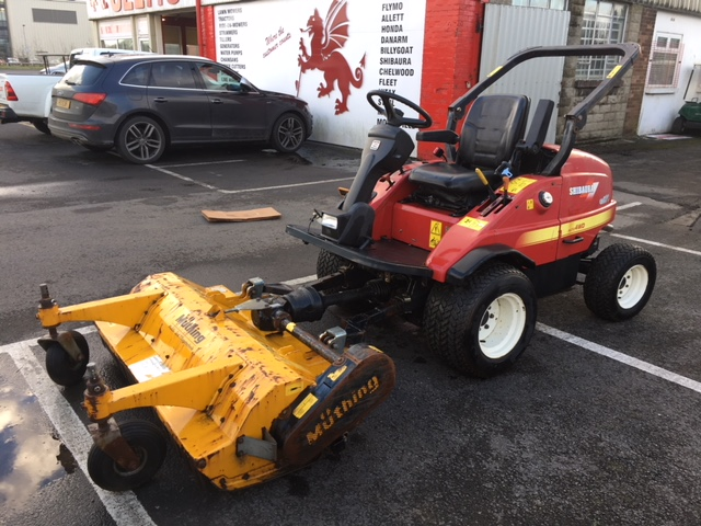 SHIBAURA CM374 WITH OUTFRONT 1 4M MUTHING FLAIL MOWER