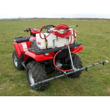 Quad with Sprayer Attachment