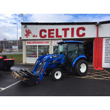 FOR SALE - NEARLY NEW - NEW HOLLAND BOOMER 50 WITH CAB & FRONT BUCKET
