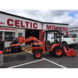 NOW SOLD - SECOND HAND / USED KUBOTA B2400 WITH FRONT BUCKET LOADER & REAR PTO DRIVEN FLAIL MOWER