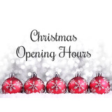 2018 - 2019 CHRISTMAS & NEW YEAR OPENING TIMES
