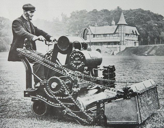 World's First Motorised Lawnmower